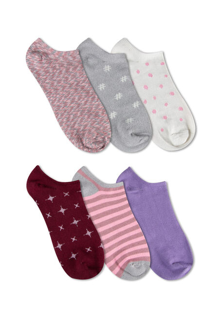 Ladies' 6 Pair Hashtag Socks