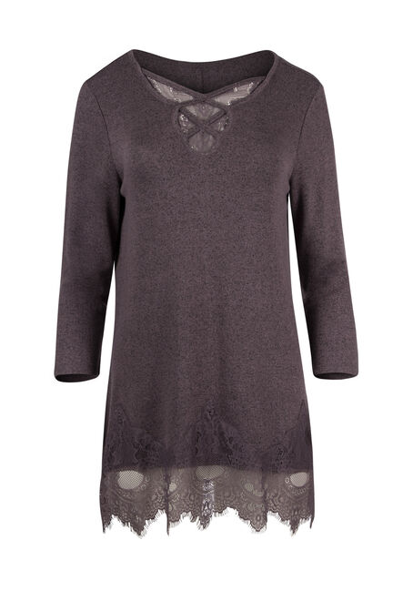 Ladies' Cage Neck Lace Tunic Top