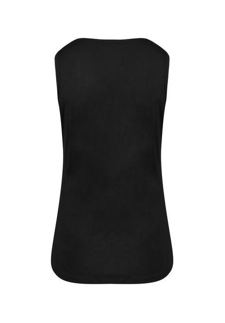 Women's V-neck Tank, BLACK, hi-res
