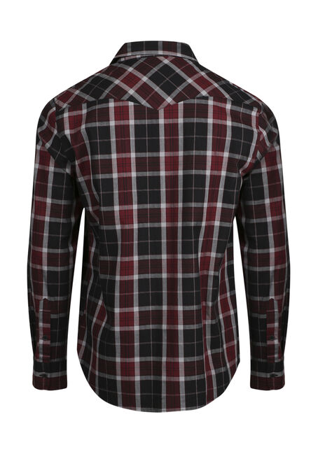 Men's Relaxed Plaid Shirt, BRICK, hi-res
