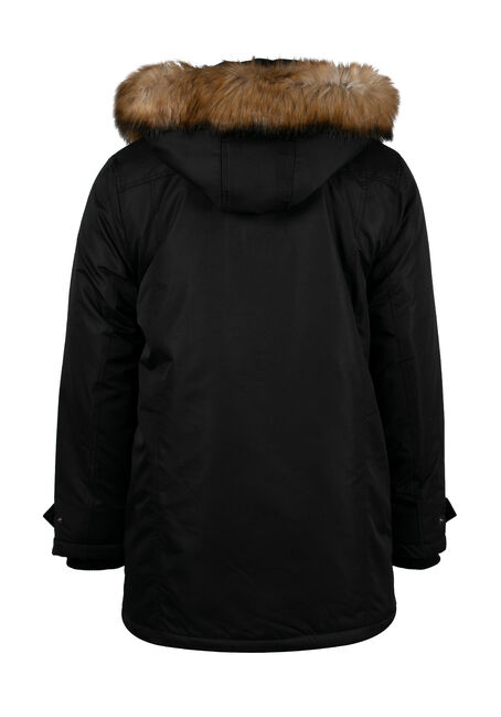 Men's Utility Parka, BLACK, hi-res