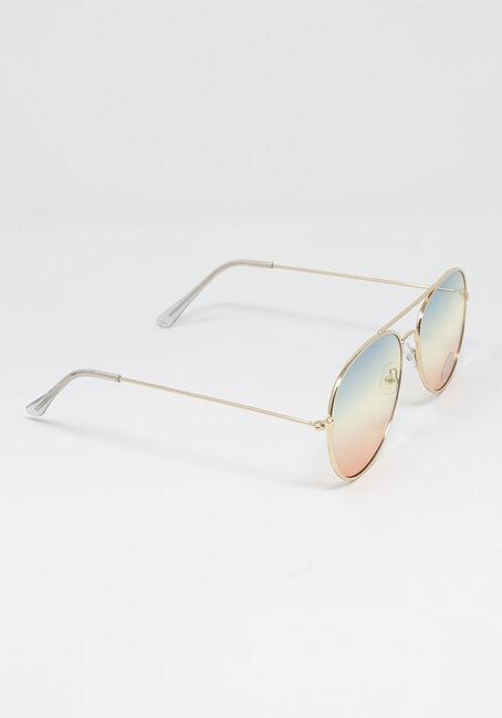 Women's Rainbow Lens Aviator, MULTI, hi-res