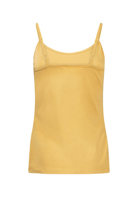 Women's Adjustable Strappy Tank, DIJON, hi-res