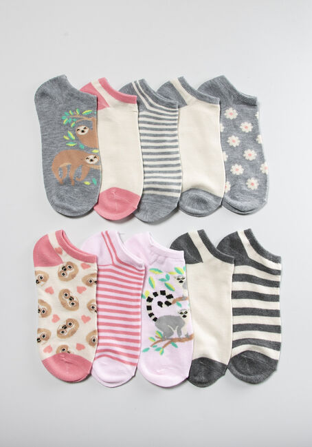 Women's Sloth 10 Pack Ankle Sock