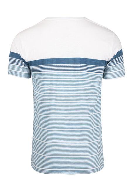Men's Everyday Colour Block Stripe Tee, TWILIGHT, hi-res