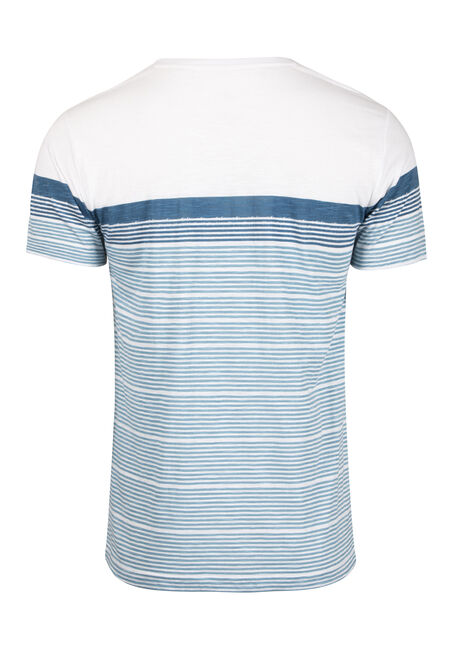 Men's Everyday Colour Block Stripe Tee, TWILIGHT, hi-res