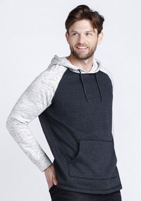 Men's Colour Block Hoodie, LIGHT GREY, hi-res
