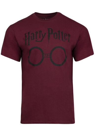 Men's Harry Potter Glasses Tee, MAROON, hi-res