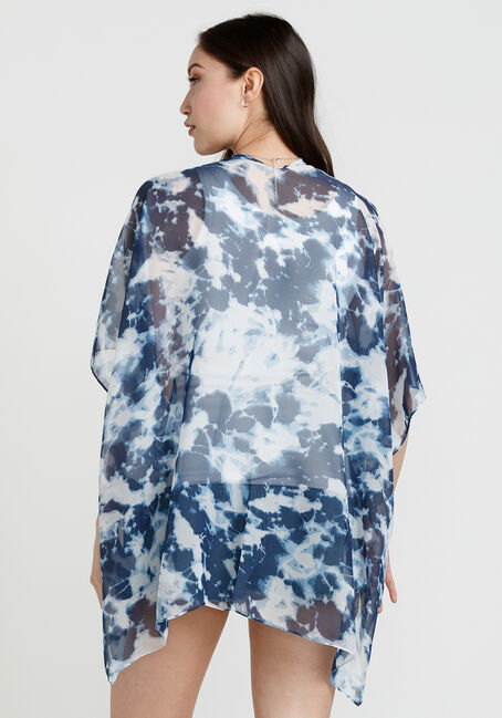 Women's Tie Dye Print Wrap, NAVY, hi-res