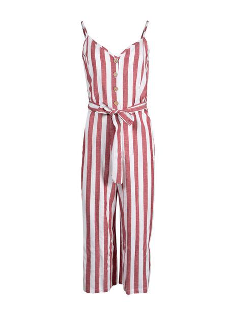 Women's Stripe Jumpsuit