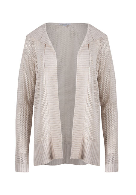 Ladies' Hooded Mesh Cardigan