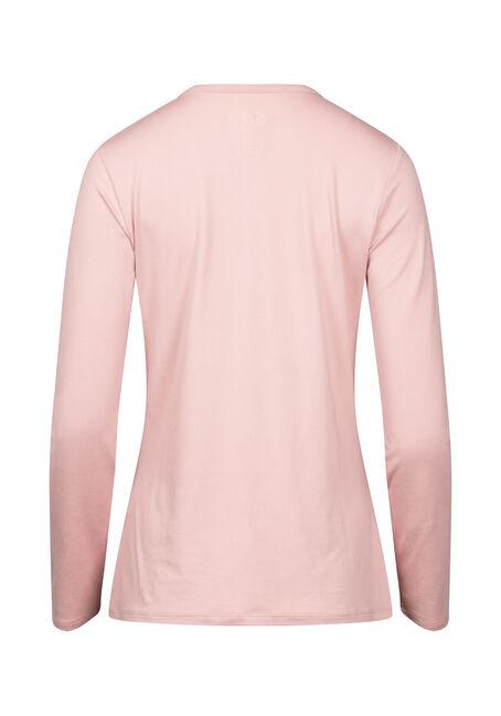 Women's V-neck Super Soft Tee, DUSTY PINK, hi-res
