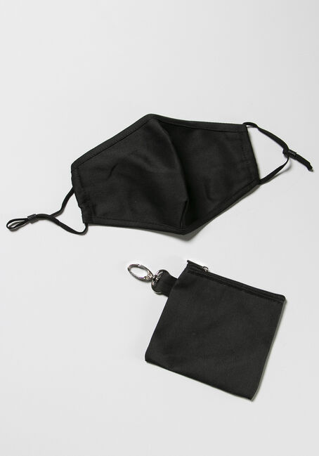 Mask With Carrying Case, BLACK, hi-res