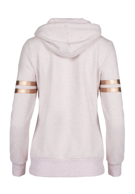 Ladies' Love Foil Print Hoodie, HEATHER PINK, hi-res