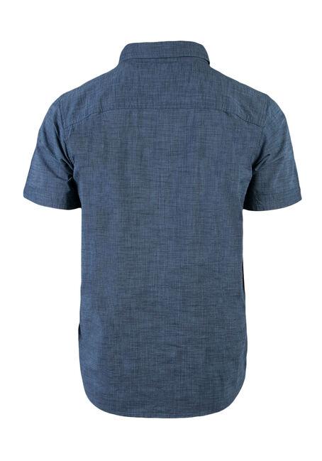 Men's Relaxed Textured Shirt, BLUE, hi-res