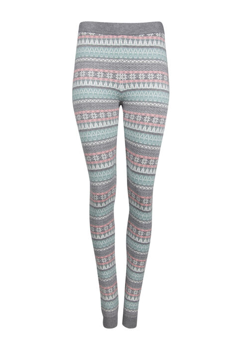Ladies' Snowflake Legging, PALE BLUE, hi-res