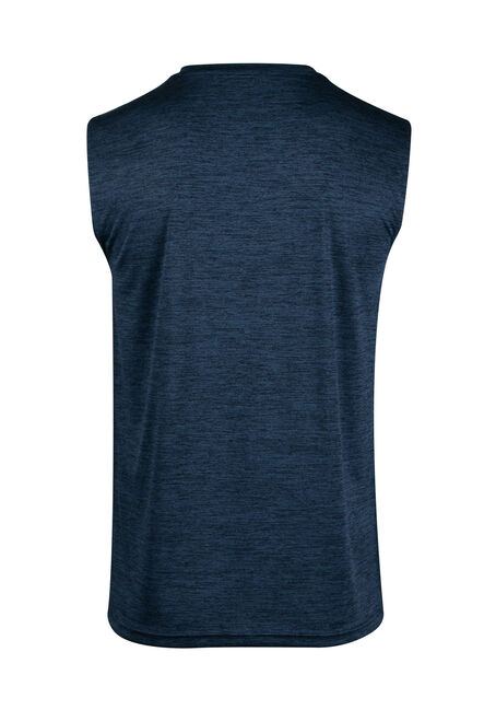Men's Space Dye Tank, BLUE, hi-res