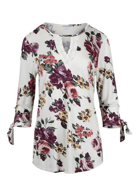 Ladies' Floral Crochet Insert Top