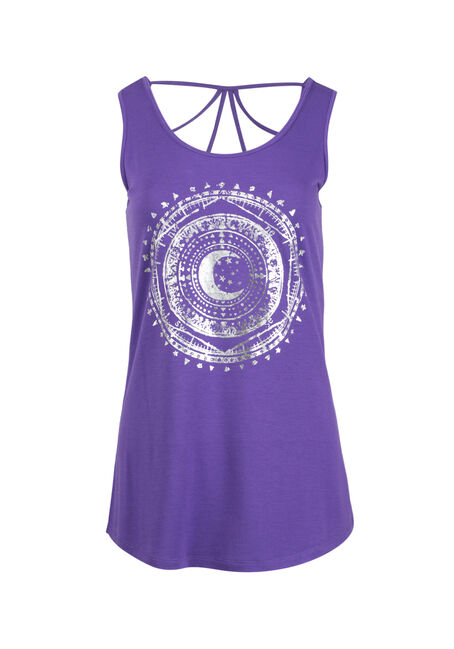 Women's Moon Cage Back Tank