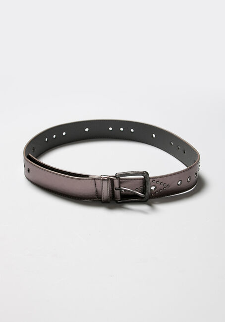 Women's Studded Belt, BLACK, hi-res
