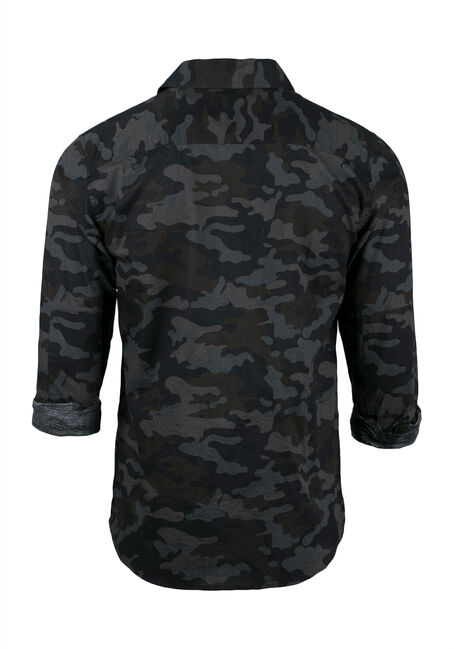 Men's Camo Shirt, GREY, hi-res