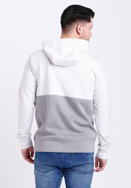 Men's Colour Block Hoodie, WHITE, hi-res