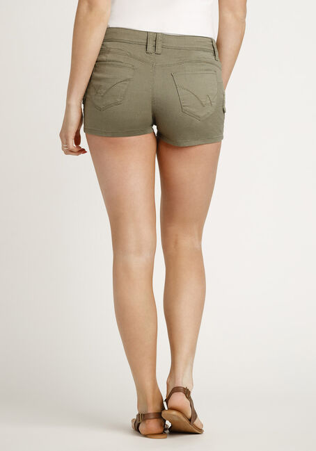 Women's Cargo Shortie, OLIVE, hi-res