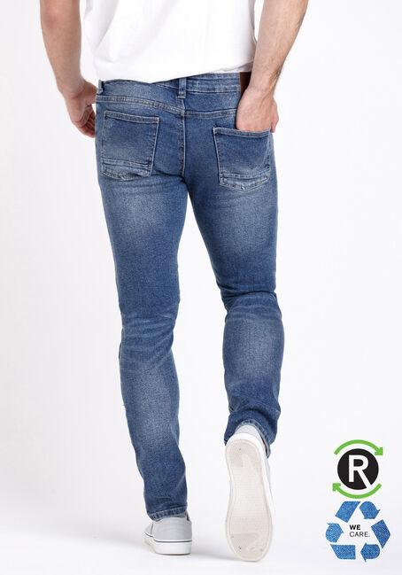 Men's Marbled Wash Skinny Jeans, MEDIUM WASH, hi-res
