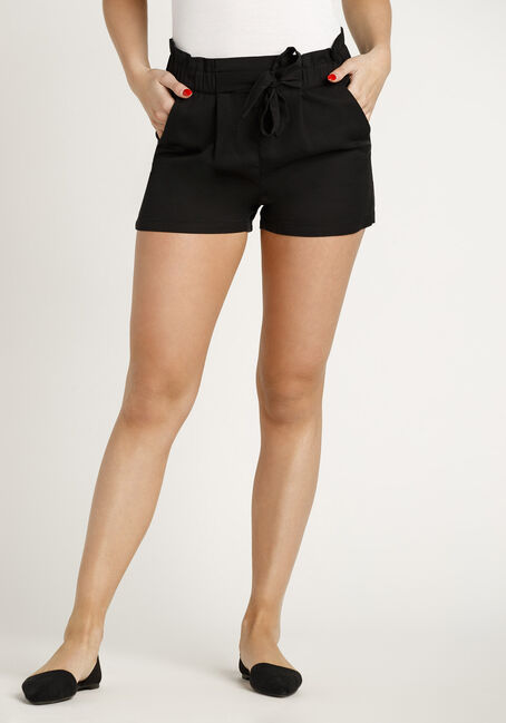 Women's Paper Bag Waist Soft Short