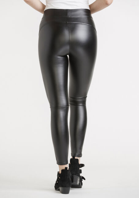 Women's Faux Leather Legging, BLACK, hi-res