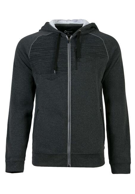 Men's Athletic Zip Front Hoodie