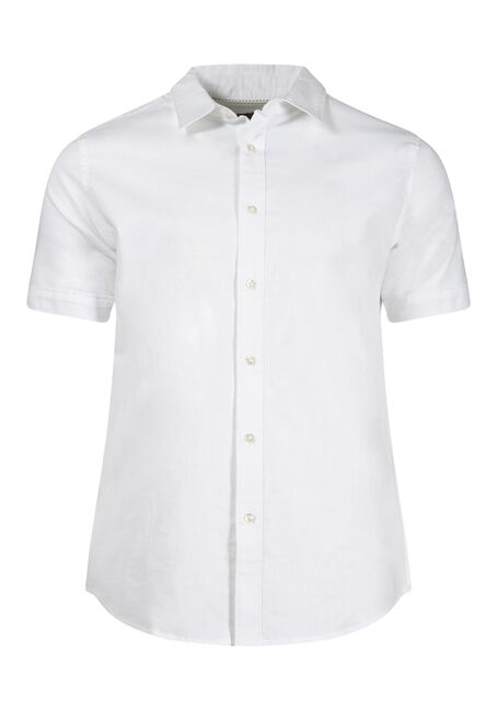 Men's Oxford Shirt, WHITE, hi-res