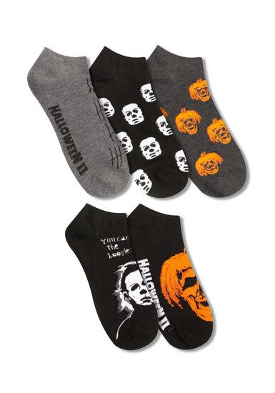 Men's 5 Pair Halloween Socks, ORANGE, hi-res