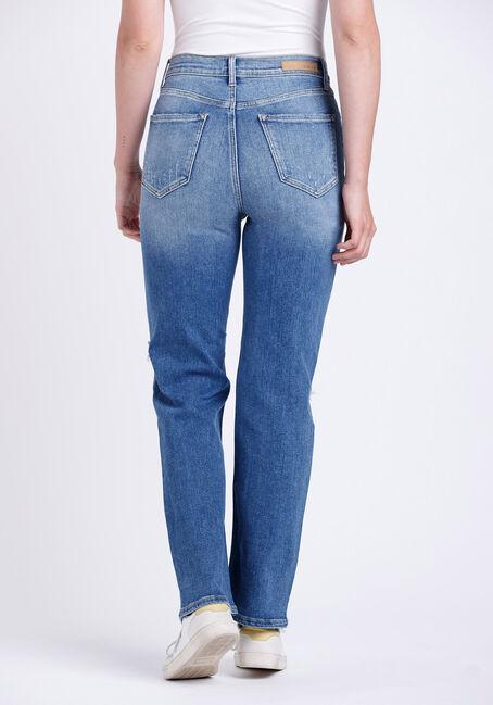 Women's Super High Rise Distress Dad Jeans, MEDIUM WASH, hi-res
