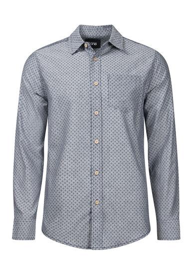 Men's Mini Dot Textured Shirt, CHARCOAL, hi-res