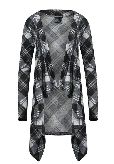 Women's Knit Plaid Wrap