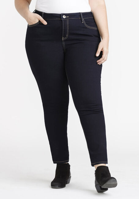 Women's Plus Size Clean Wash Skinny Jeans