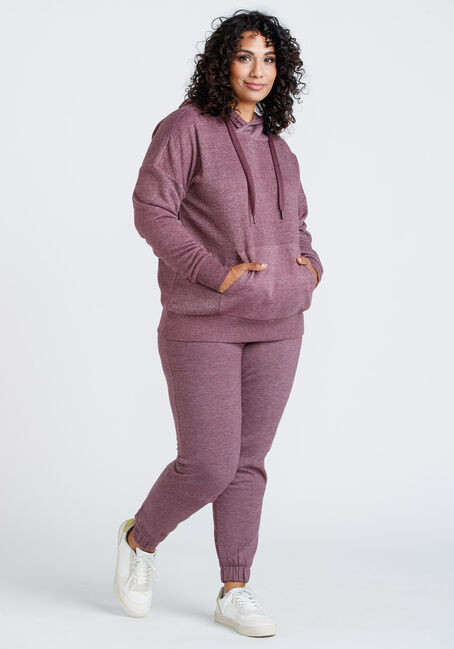 Women's Popover hoodie, DARK PLUM, hi-res
