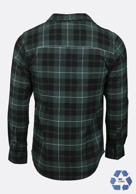 Men's Plaid Flannel Shirt, FOREST GREEN, hi-res