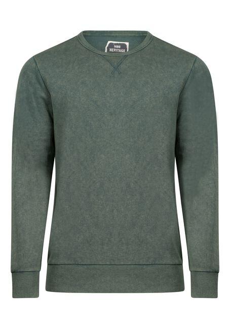 Men's Crew Neck Sweatshirt, ALPINE GREEN, hi-res