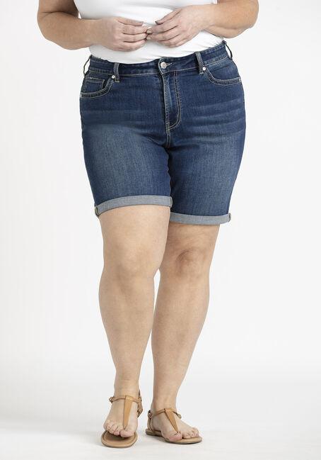 Women's Plus Slim Bermuda Cuffed Jean Short