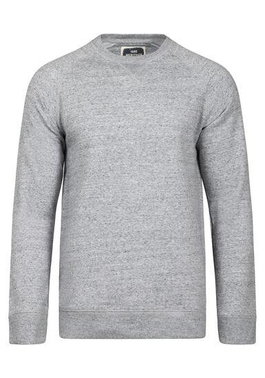 Men's Crew Neck Sweatshirt, HEATHER GREY, hi-res