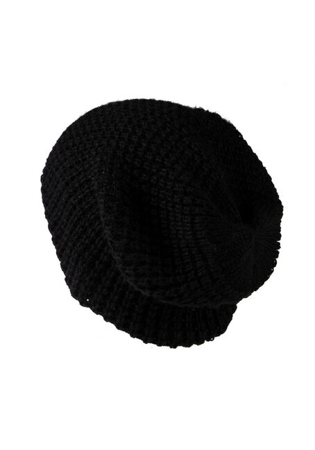 Women's Slouchy Hat, BLACK, hi-res