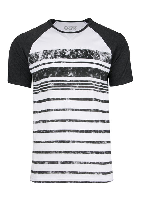 Men's Stripe Raglan Tee