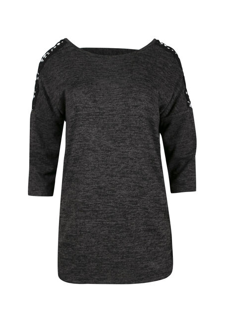Ladies' Crochet Insert Dolman Top