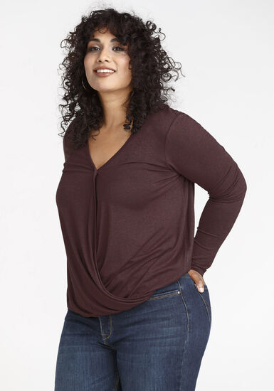 Women's Lace Back Top, WINE, hi-res