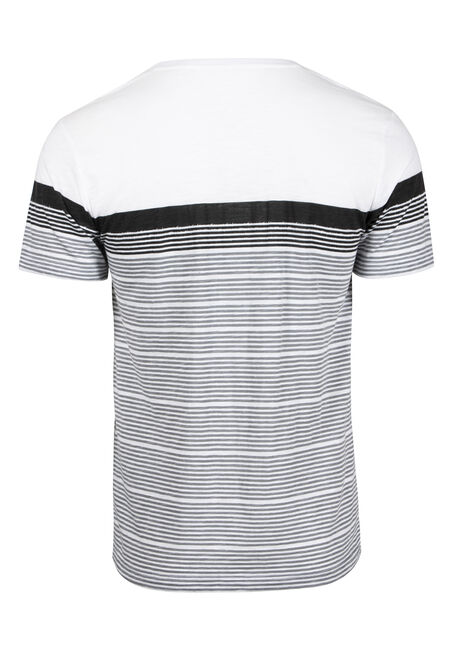 Men's Everyday Colour Block Stripe Tee, DARK SHADOW, hi-res