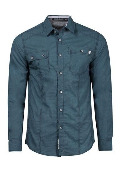 Men's Textured Shirt, TEAL, hi-res