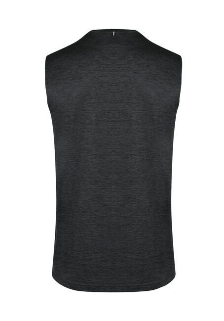 Men's Colour Block Athletic Tank, CHARCOAL, hi-res