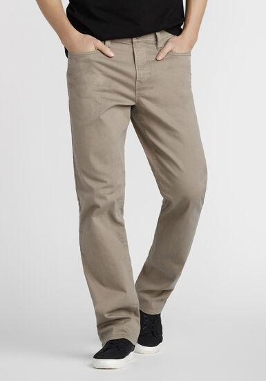 Men's Slim Straight Khaki Jeans, TAUPE, hi-res